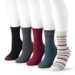 Women's SONOMA Goods For Life? Crew Socks (5-Pack)