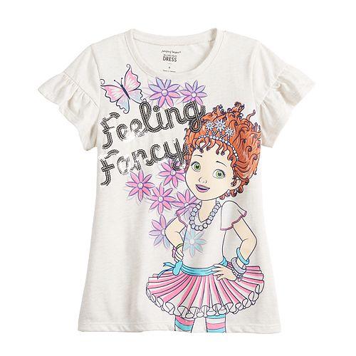 """Disney's Fancy Nancy Girls 4-12 """"Feeling Fancy"""" Graphic Tee by Jumping Beans®"""