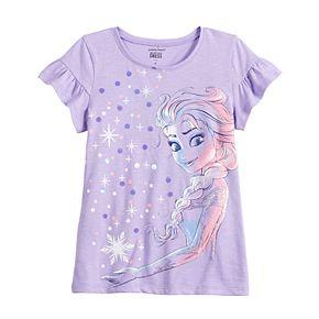 Disney's Frozen Elsa Girls 4-12 Flutter Sleeve Tee by Jumping Beans®