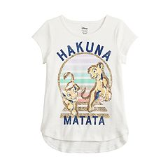 627e4bd1d83f Disney's The Lion King Girls 4-12 Hakuna Matata Graphic Tee by Jumping  Beans®