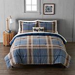 Cuddl Duds Heavyweight Flannel Classic Plaid Comforter Set