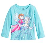 Disney's Frozen Elsa & Anna Toddler Girl Sequin Graphic Tee by Jumping Beans®