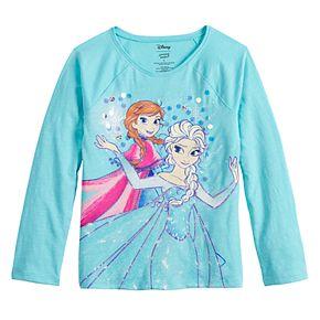 Disney's Frozen Elsa & Anna Girls 4-12 Sequin Graphic Tee by Jumping Beans®