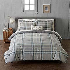 Cuddl Duds Heavyweight Flannel Ice Plaid Comforter Set