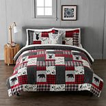 Cuddl Duds Heavyweight Flannel Lodge Patchwork Comforter Set