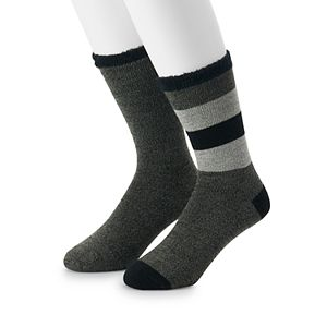 Men's Croft & Barrow® Marl Stripe Duo Layer Crew Socks