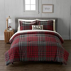Cuddl Duds Heavyweight Flannel Plaid Comforter Set