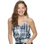 Juniors' Love, Fire Smocked Bottom Tank Top