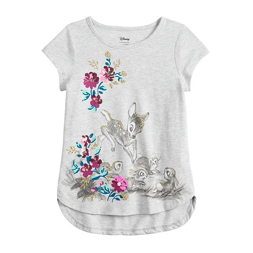 Disney's Bambi Girls 4-12 Glittery Graphic Top by Jumping Beans®