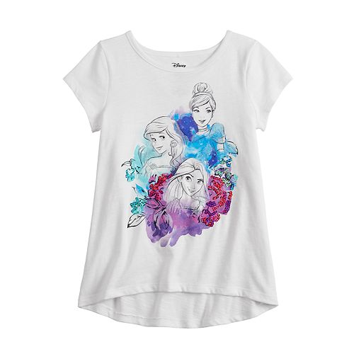 Disney Princess Girls 4-12 Ariel, Rapunzel & Cinderella Sequined Graphic Tee by Jumping Beans®