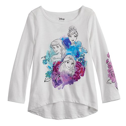 Disney Princess Toddler Girl Ariel, Rapunzel & Cinderella Sequined Graphic Tee by Jumping Beans®