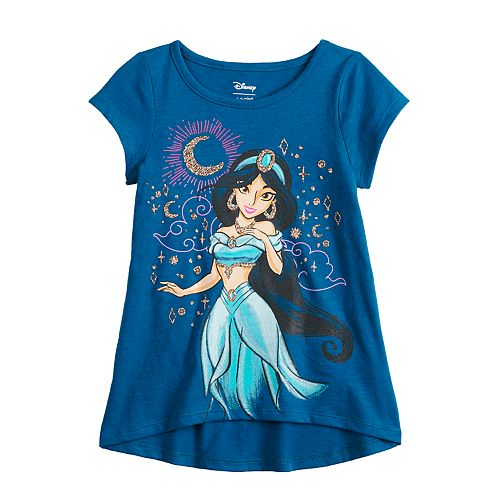 Disney's Aladdin Toddler Girl Glittery Jasmine Graphic Short Sleeve Tee by Jumping Beans®