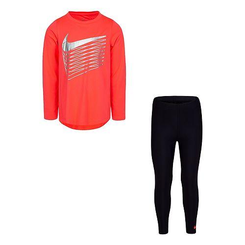Girl 4-6x Nike Dri-FIT Long Sleeve Tunic Top & Leggings Set