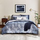 Scott Living Oasis Mirrored Chevron Comforter Set with Shams