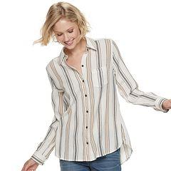 a096b57f Womens Button-Down Shirts Long Sleeve Shirts & Blouses - Tops ...