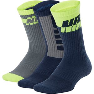 Boys 5-11 Nike 3-Pack Colorblock Crew Socks