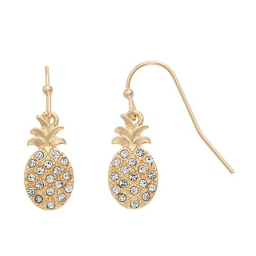 LC Lauren Conrad Pineapple Nickel Free Drop Earrings