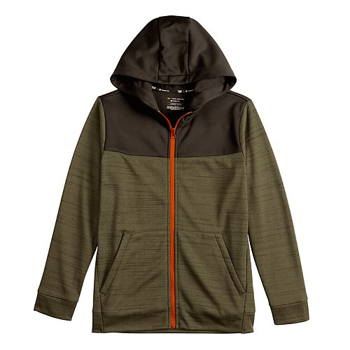 Boys 8-20 Tek Gear Performance Fleece Full Zip Hoodie in Regular & Husky