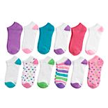 Girls Hanes 12-Pack No Show Socks