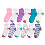 Girls 4-16 Hanes 12-Pack Ankle Socks
