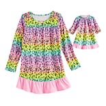 Girl's 4-18 and Plus Size SO® Ruffle Yoke Dorm with Doll Gown