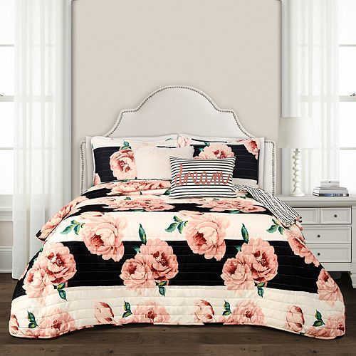 Lush Decor Amara Floral Quilt 5 Piece Set