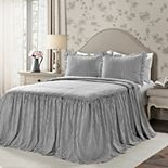 Lush Decor Ticking Stripe Ruffled Bedspread Set