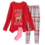 Girls 4-18 SO® Tunic, Leggings & Socks Set