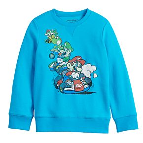 Boys 4-12 Jumping Beans® Long-Sleeve Mario Brothers Crewneck Sweater
