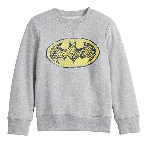 Boys 4-12 Jumping Beans® Long-Sleeve Crew Softest Batman Fleece