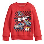 Boys 4-12 Jumping Beans® Long-Sleeve Crew Hot Wheels Softest Fleece