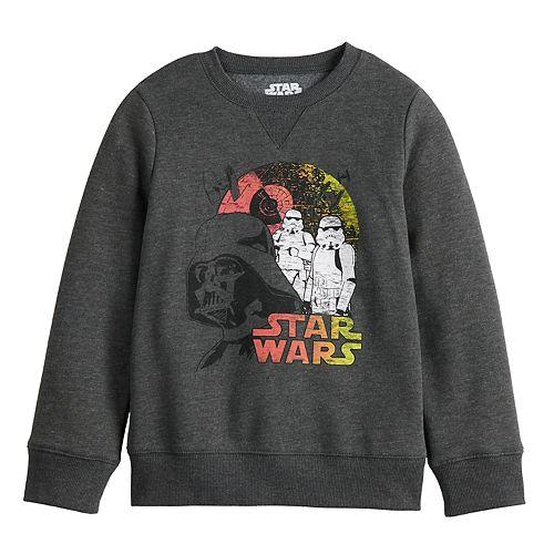 Boys 4-12 Jumping Beans® Long-Sleeve Crew Star Wars Softest Fleece