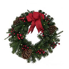 Christmas Wreath With Lights.Christmas Wreaths Home Decor Kohl S