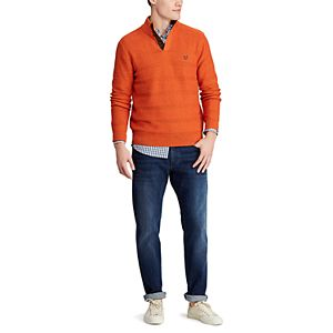 Men's Chaps Classic-Fit Button-Mock Sweater