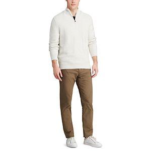 Men's Chaps Classic-Fit Textured Quarter-Zip Sweater