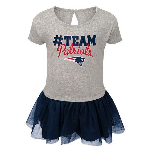 huge selection of 583e1 2ef5e Girls NFL New England Patriots Short Sleeve Dress