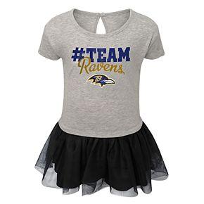 Girls NFL Baltimore Ravens Short Sleeve Dress
