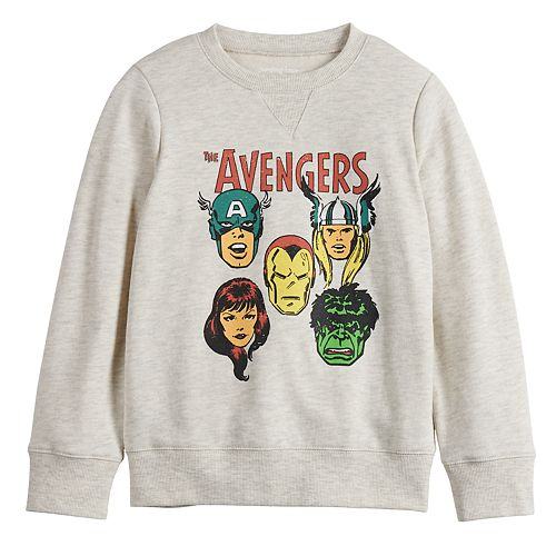 Boys 4-12 Jumping Beans® Long-Sleeve Crew Avengers Softest Fleece