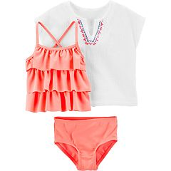 Baby Girl Carter's 3 Piece Tankini Swimsuit & Cover Up Set