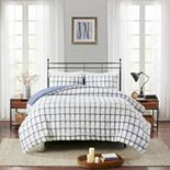 Madison Park Matthies 3 Piece Printed Seersucker Duvet Cover Set