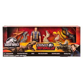 Mattel Jurassic World Dinosaurs & Figure 6-Pack
