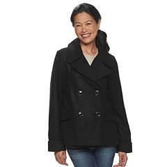 Womens Larry Levine Peacoat Coats Jackets Outerwear