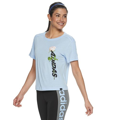 Women's adidas Floral Graphic Cropped Tee