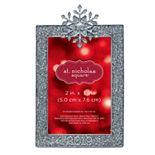 St. Nicholas Square® Sparkly Snowflake Photo Christmas Ornament