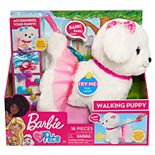 Girl's Barbie Walking Puppy