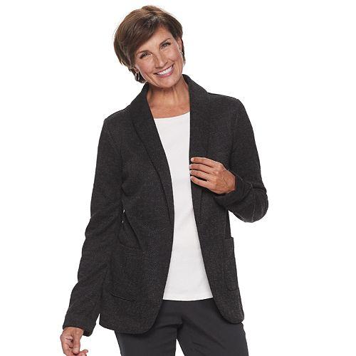 Petite Croft & Barrow® Knit Open-Front Blazer