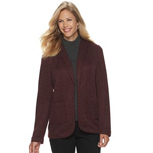 Petite Croft & Barrow® Knit Open-Front Blazer