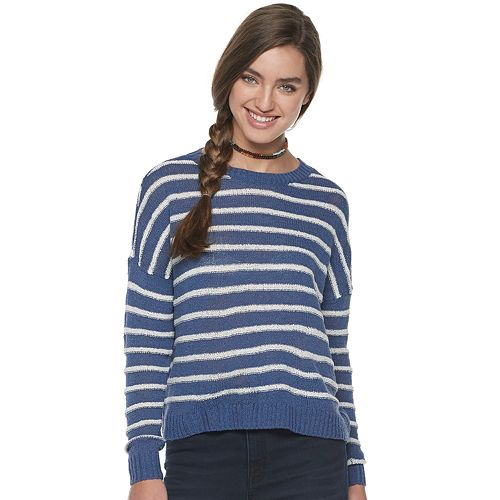 Juniors' SO Striped Pullover Sweater