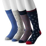 Big & Tall Croft & Barrow® 4-pack Opticool Novelty Crew Socks