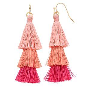 LC Lauren Conrad Tiered Tassel Nickel Free Drop Earrings